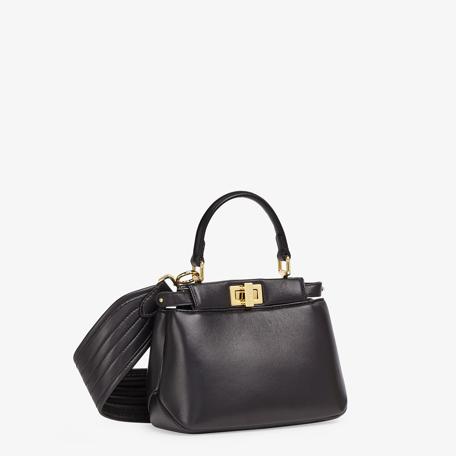 FENDI PEEKABOO ICONIC XS - Black nappa leather bag - view 3 detail
