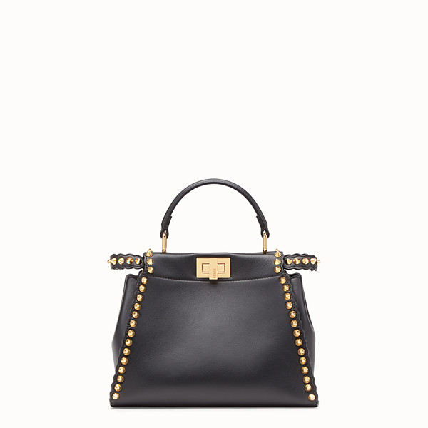 FENDI PEEKABOO MINI - Borsa in pelle nera - vista 1 thumbnail piccola