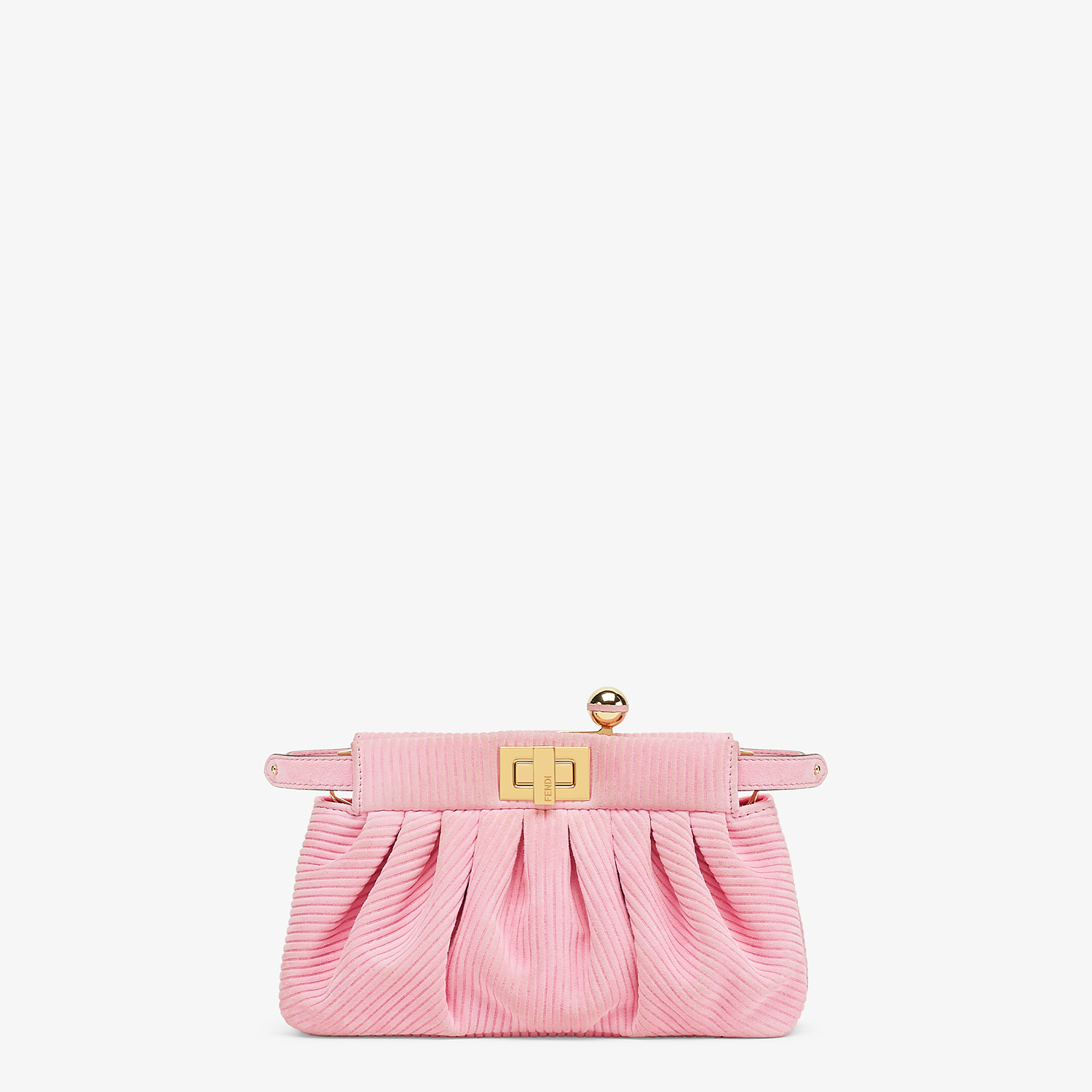 FENDI PEEKABOO CLICK - Small pink chamois bag - view 1 detail