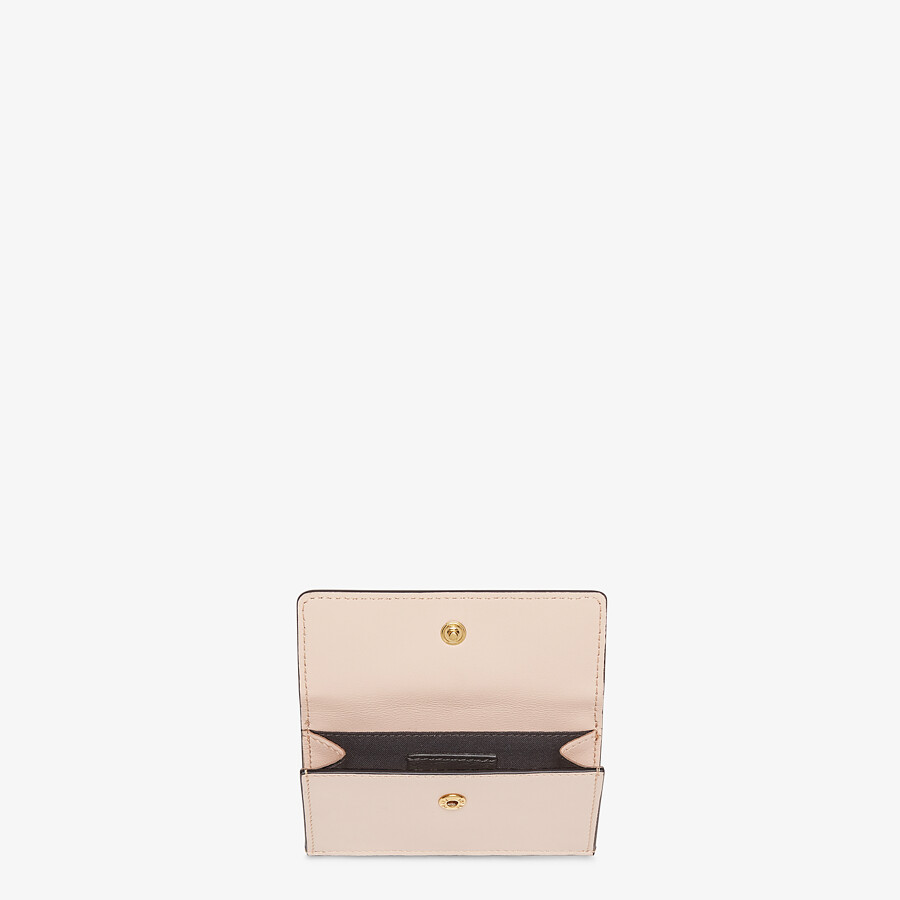 FENDI CARD HOLDER - Pink leather cardholder - view 3 detail