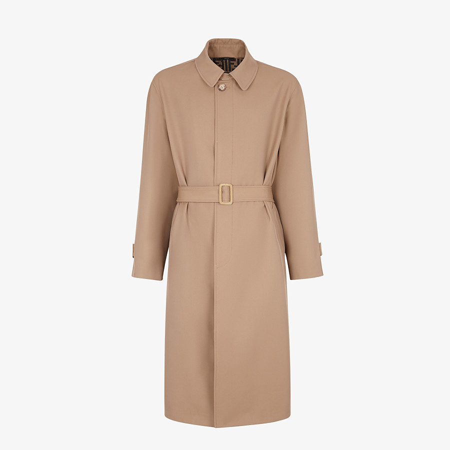 FENDI TRENCH COAT - Beige wool trench coat - view 1 detail