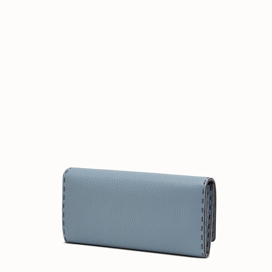 FENDI 長款皮夾 - 淺藍色和米白色Selleria長款皮夾 - view 2 detail