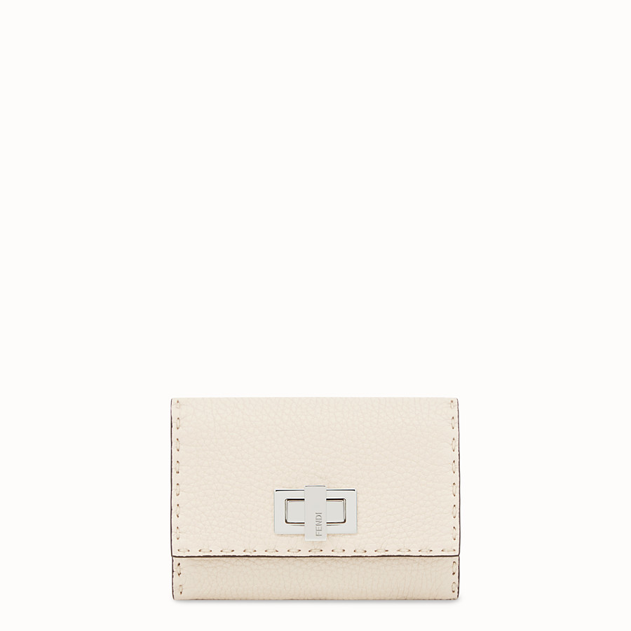 FENDI CONTINENTAL MEDIUM - White leather wallet - view 1 detail
