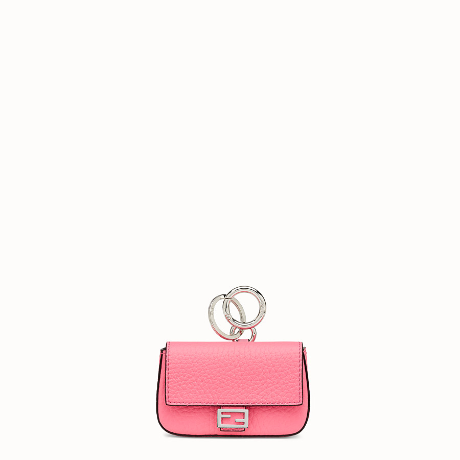 FENDI NANO BAGUETTE CHARM - Fendi Roma Amor leather charm - view 1 detail