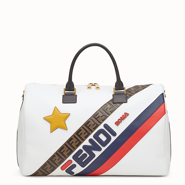 FENDI TRAVEL BAG - White leather holdall bag - view 1 small thumbnail