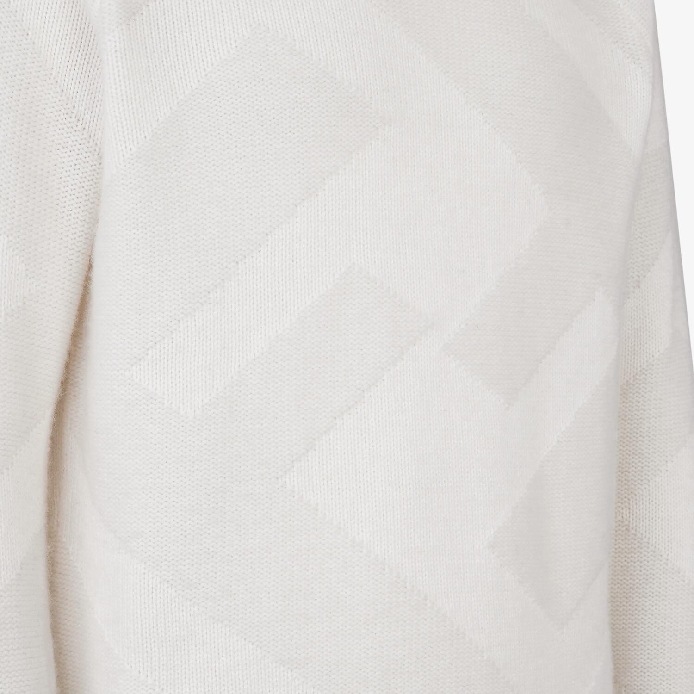FENDI PULLOVER - White cashmere pullover - view 3 detail