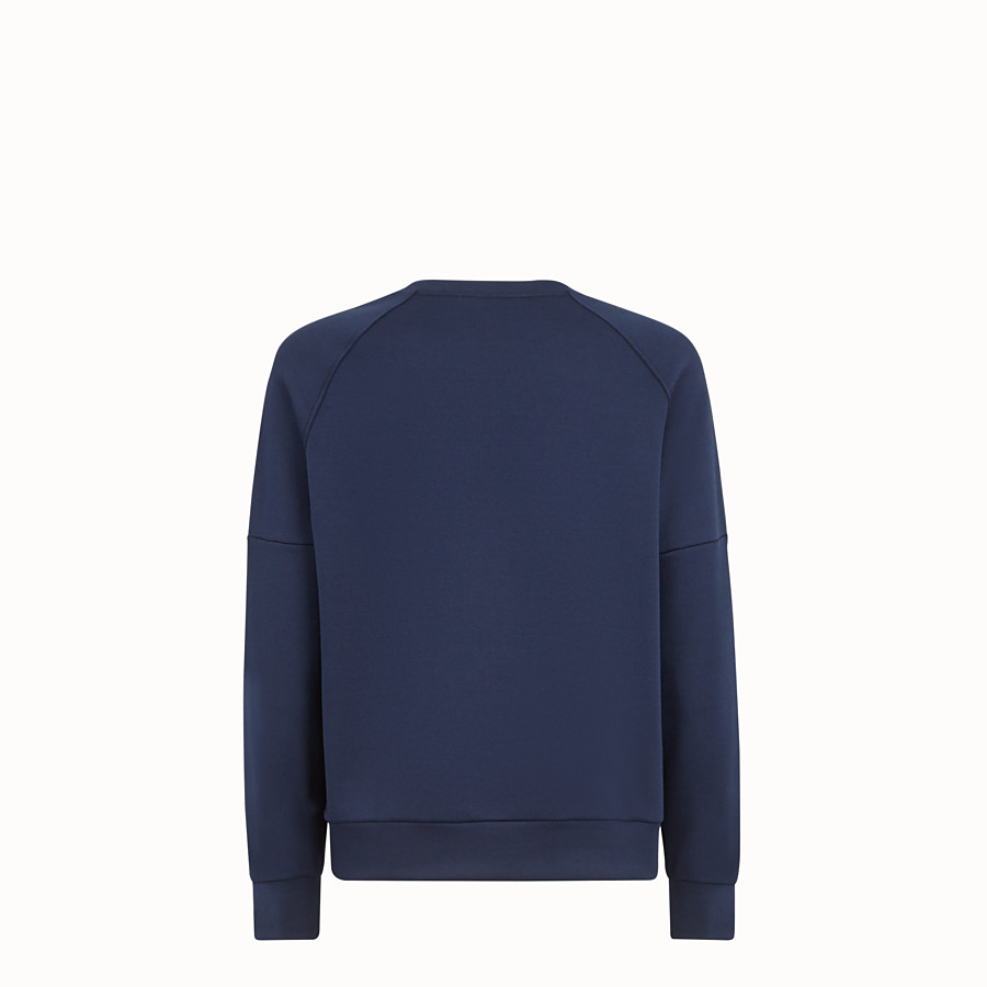 FENDI SWEATSHIRT - Blue cotton jersey sweatshirt - view 2 detail