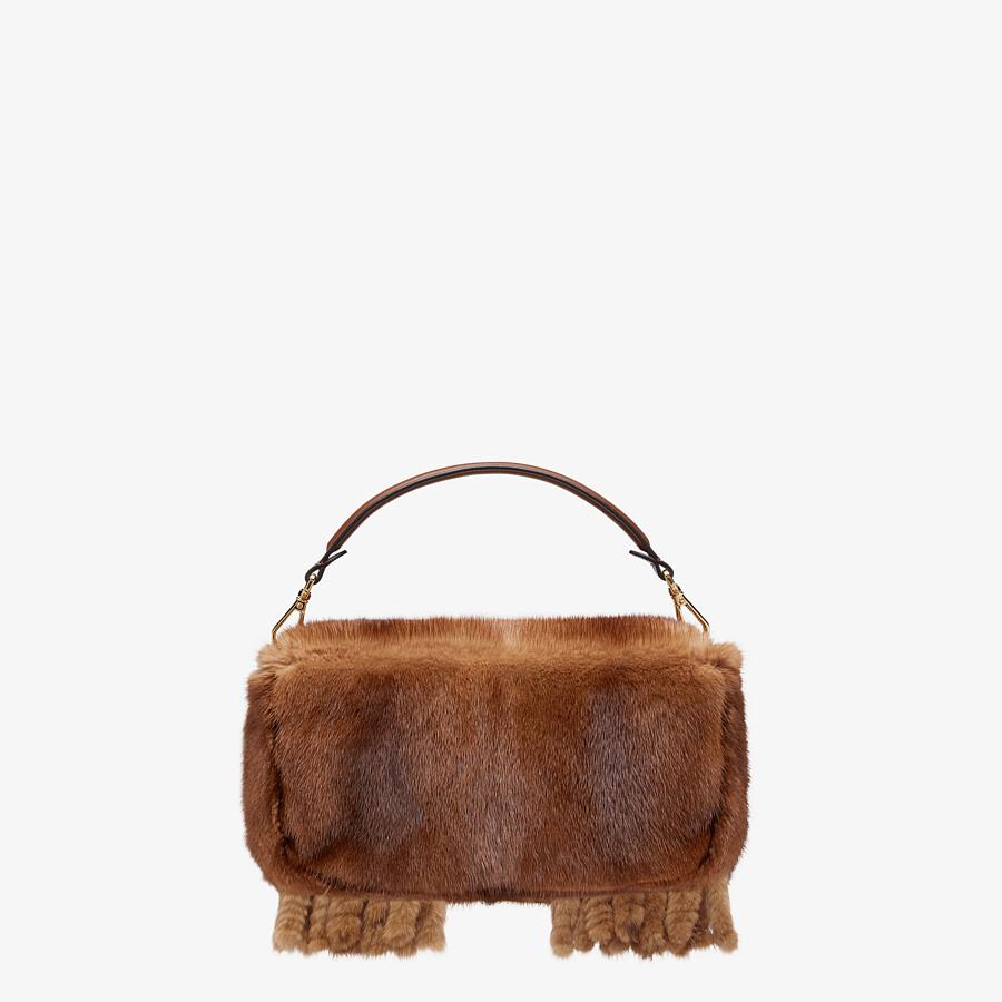 FENDI BAGUETTE - Natural mink bag with fringing - view 4 detail
