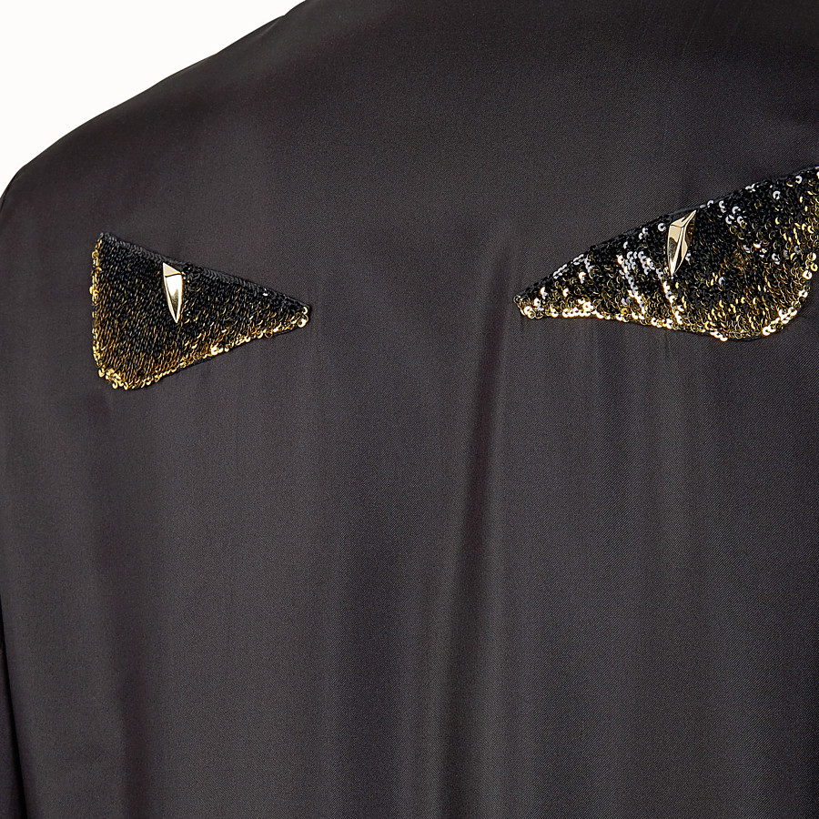 FENDI BOMBER - Black silk bomber jacket - view 3 detail