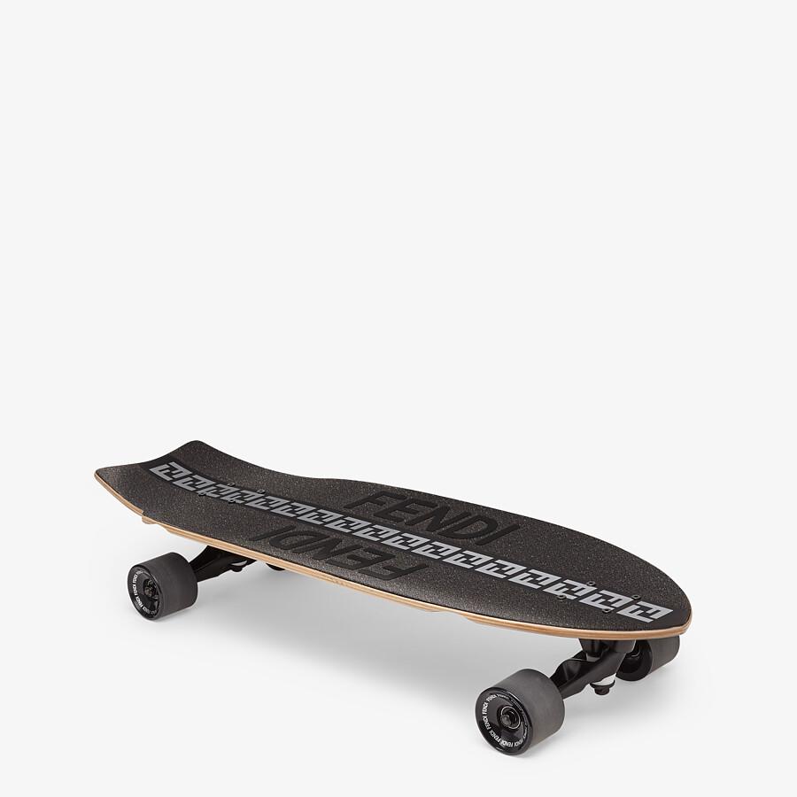 FENDI SKATEBOARD - Black wooden longboard - view 1 detail