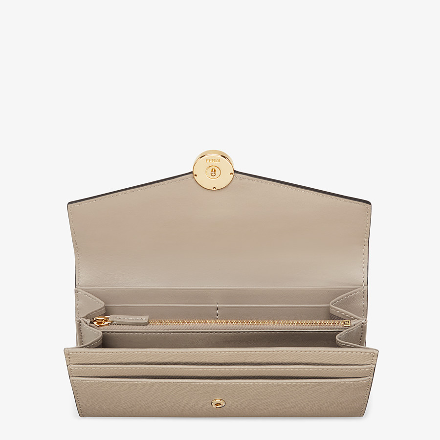 FENDI CONTINENTAL - Beige leather wallet - view 4 detail