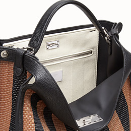 FENDI PEEKABOO X-LITE FIT - Brown raffia bag - view 6 thumbnail