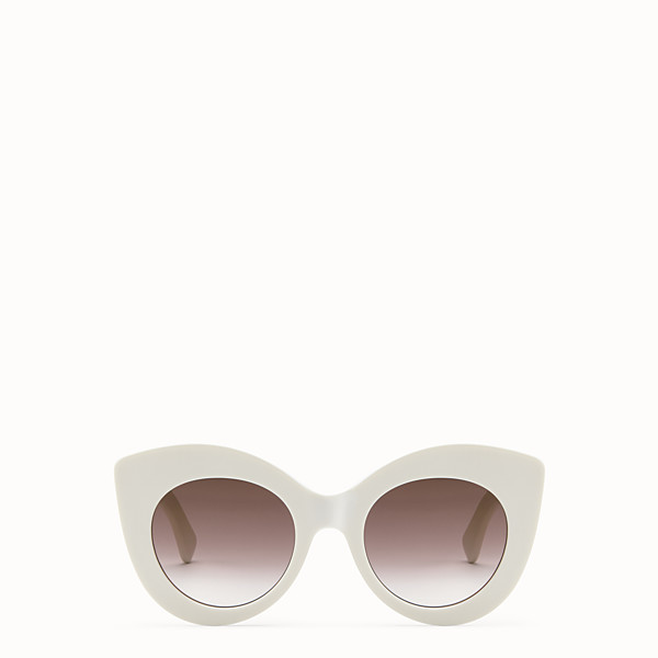 FENDI F IS FENDI - White and brown sunglasses - view 1 small thumbnail