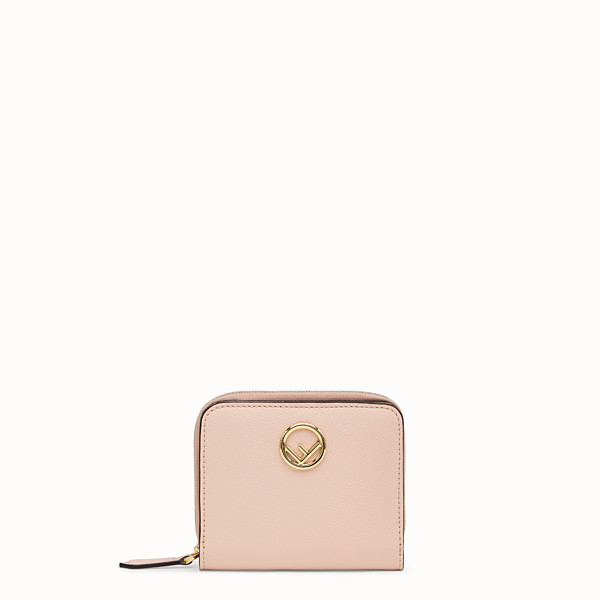 FENDI MEDIUM ZIP-AROUND - Pink leather wallet - view 1 small thumbnail