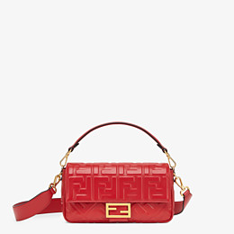 FENDI BAGUETTE - Red leather bag - view 1 thumbnail