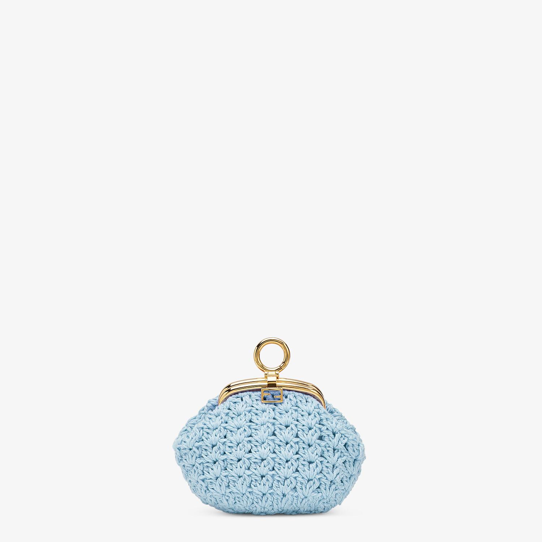 FENDI COIN PURSE - Light blue lace coin purse - view 1 detail