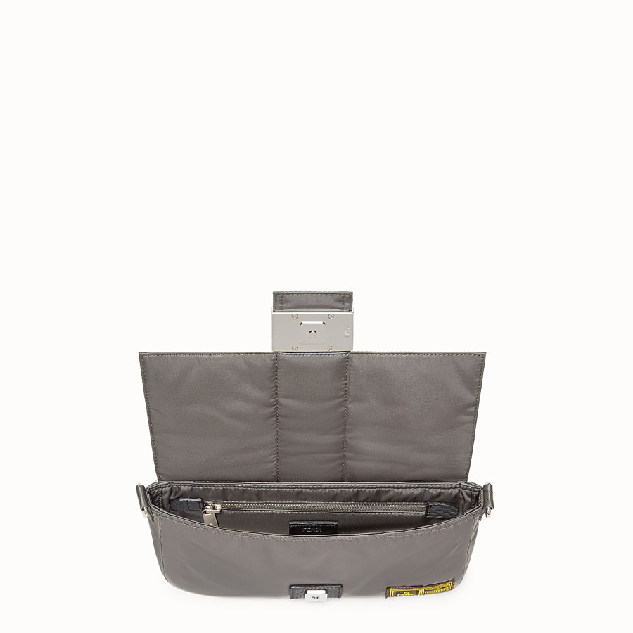 FENDI BAGUETTE FENDI AND PORTER - Silver colour nylon bag - view 4 detail