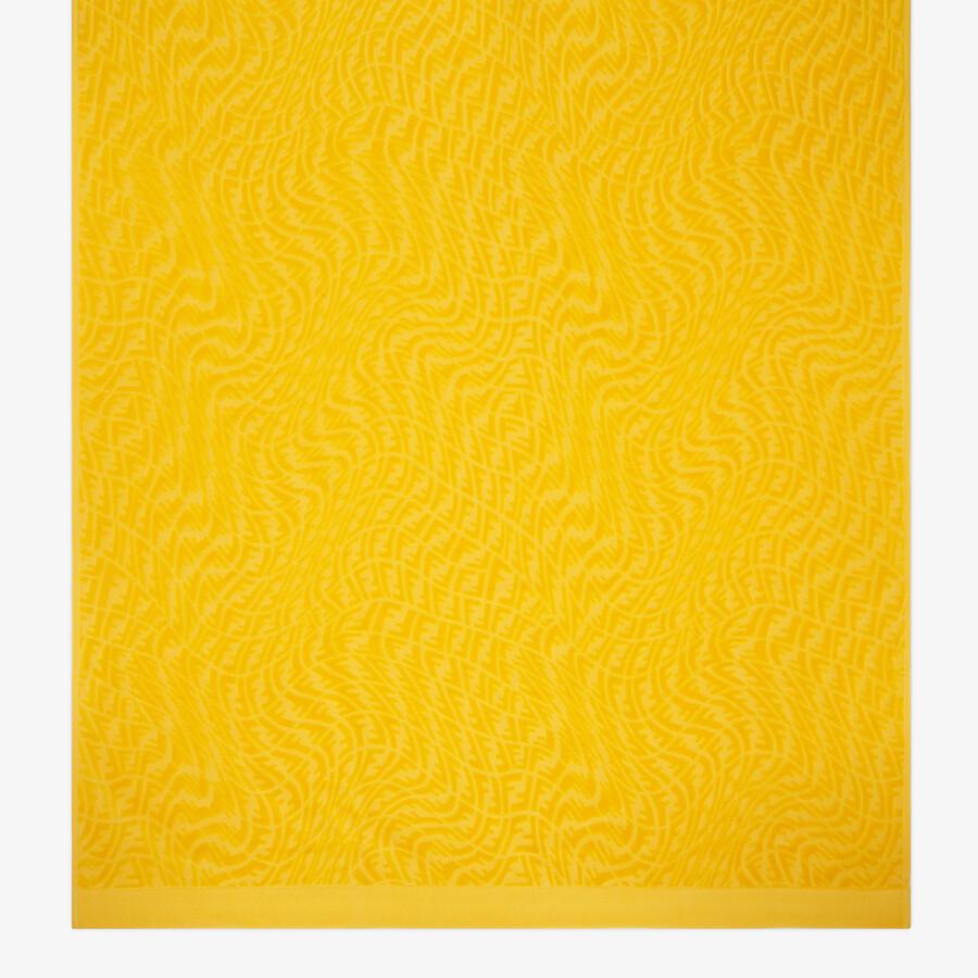 FENDI BEACH TOWEL - Yellow fabric beach towel - view 3 detail