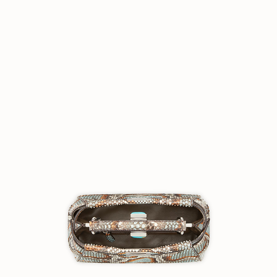 FENDI PEEKABOO MINI - Multicolour python handbag - view 4 detail