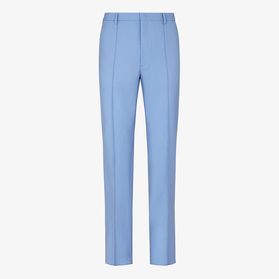 FENDI PANTS - Light blue wool pants - view 1 detail