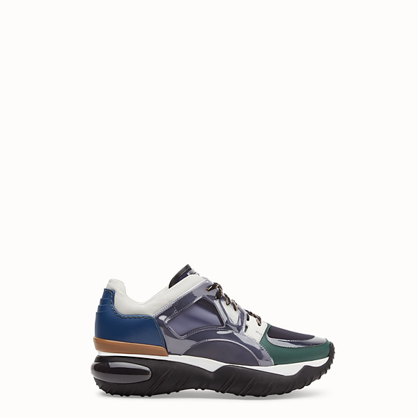 FENDI SNEAKER - Sneaker in pelle multicolor - vista 1 thumbnail piccola