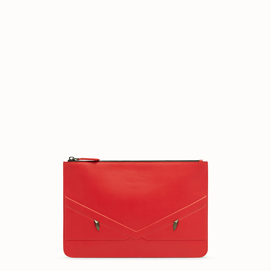 FENDI POUCH - Red leather pochette - view 1 detail