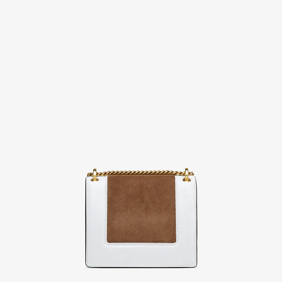FENDI KAN U SMALL - Leather and suede minibag - view 4 detail