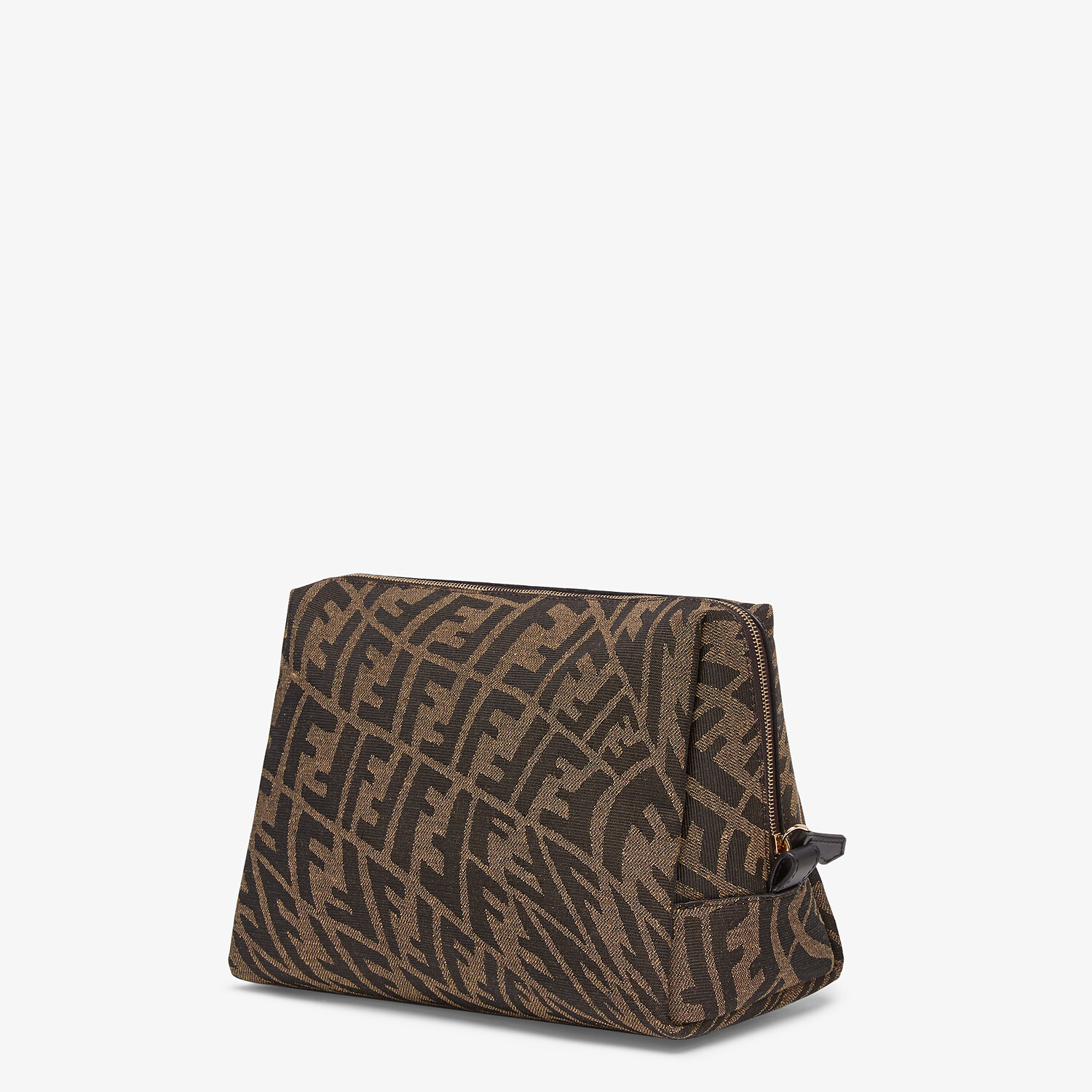 FENDI MEDIUM BEAUTY POUCH - Brown fabric toiletry case - view 2 detail