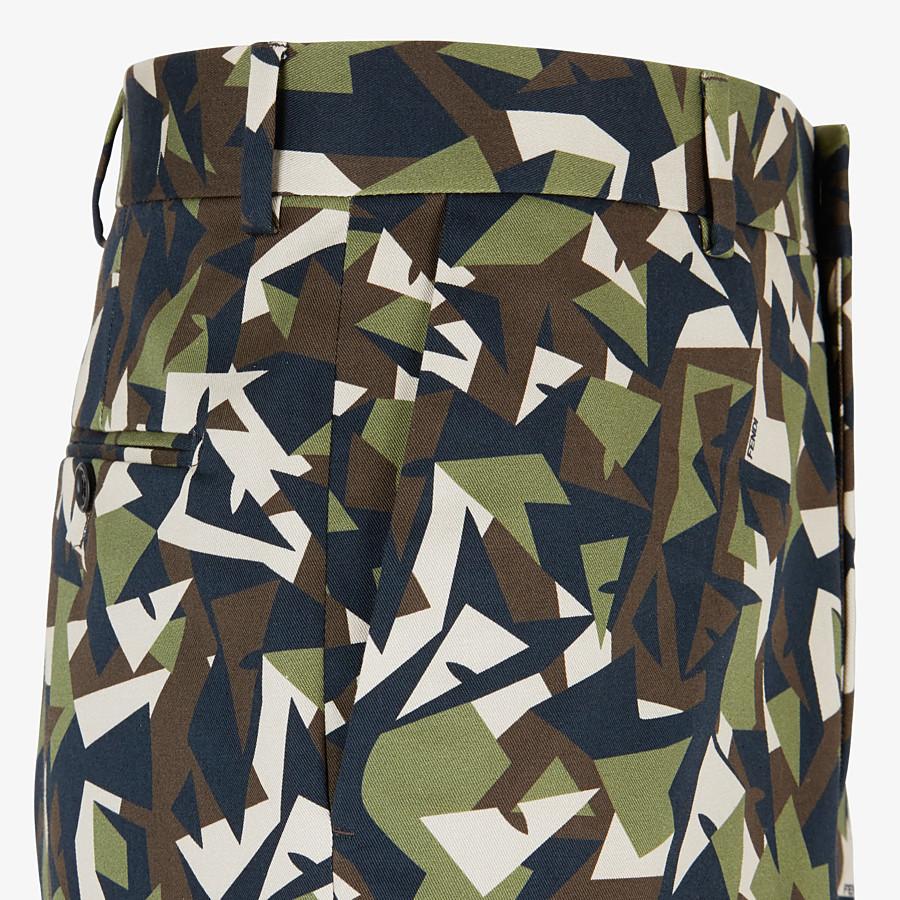 FENDI BERMUDAS - Multicolor gabardine pants - view 3 detail