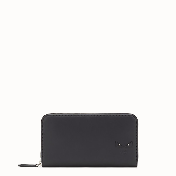 FENDI WALLET - Smooth black leather zip-around wallet - view 1 small thumbnail