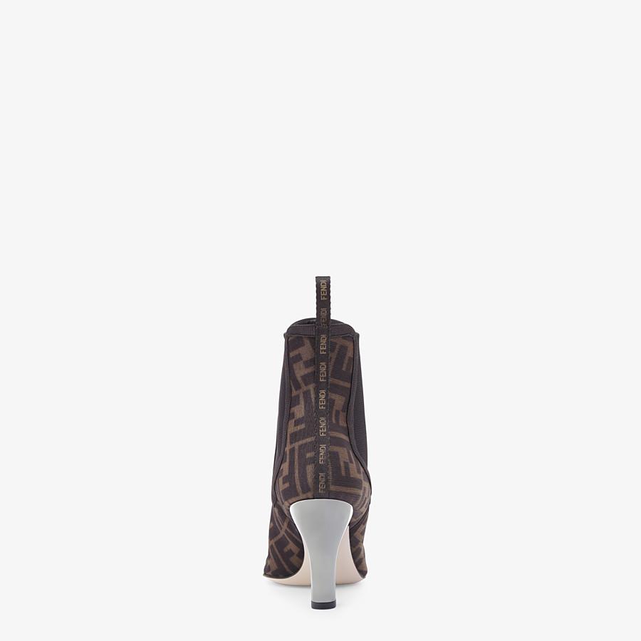 FENDI ANKLE BOOTS - Colibrì in black mesh - view 3 detail