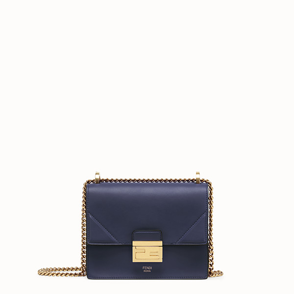 FENDI KAN U SMALL - Blue leather minibag - view 1 small thumbnail