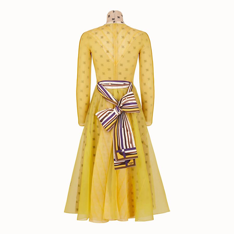 FENDI KLEID - Kleid aus Organza in Gelb - view 2 detail