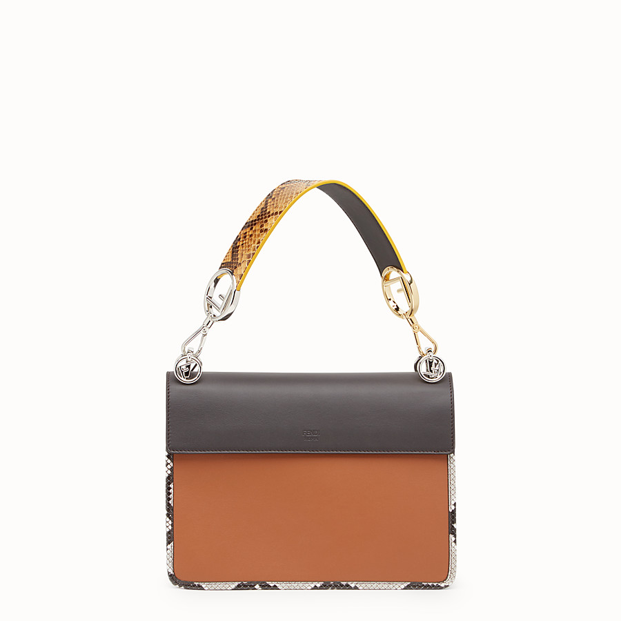FENDI KAN I F - Multicolour bag with exotic details - view 3 detail