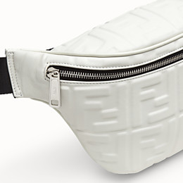 FENDI BELT BAG - White nappa leather belt bag - view 5 thumbnail