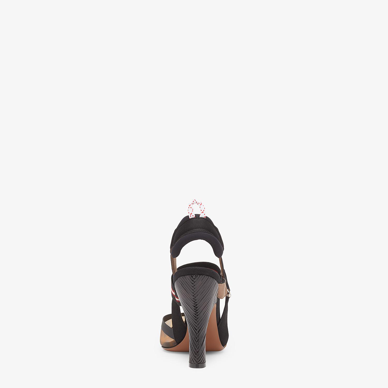 FENDI COLIBRÌ - Multicolour tech mesh high-heeled slingbacks - view 3 detail