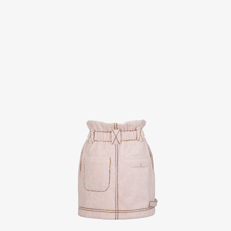FENDI SKIRT - Pink terry skirt - view 2 detail