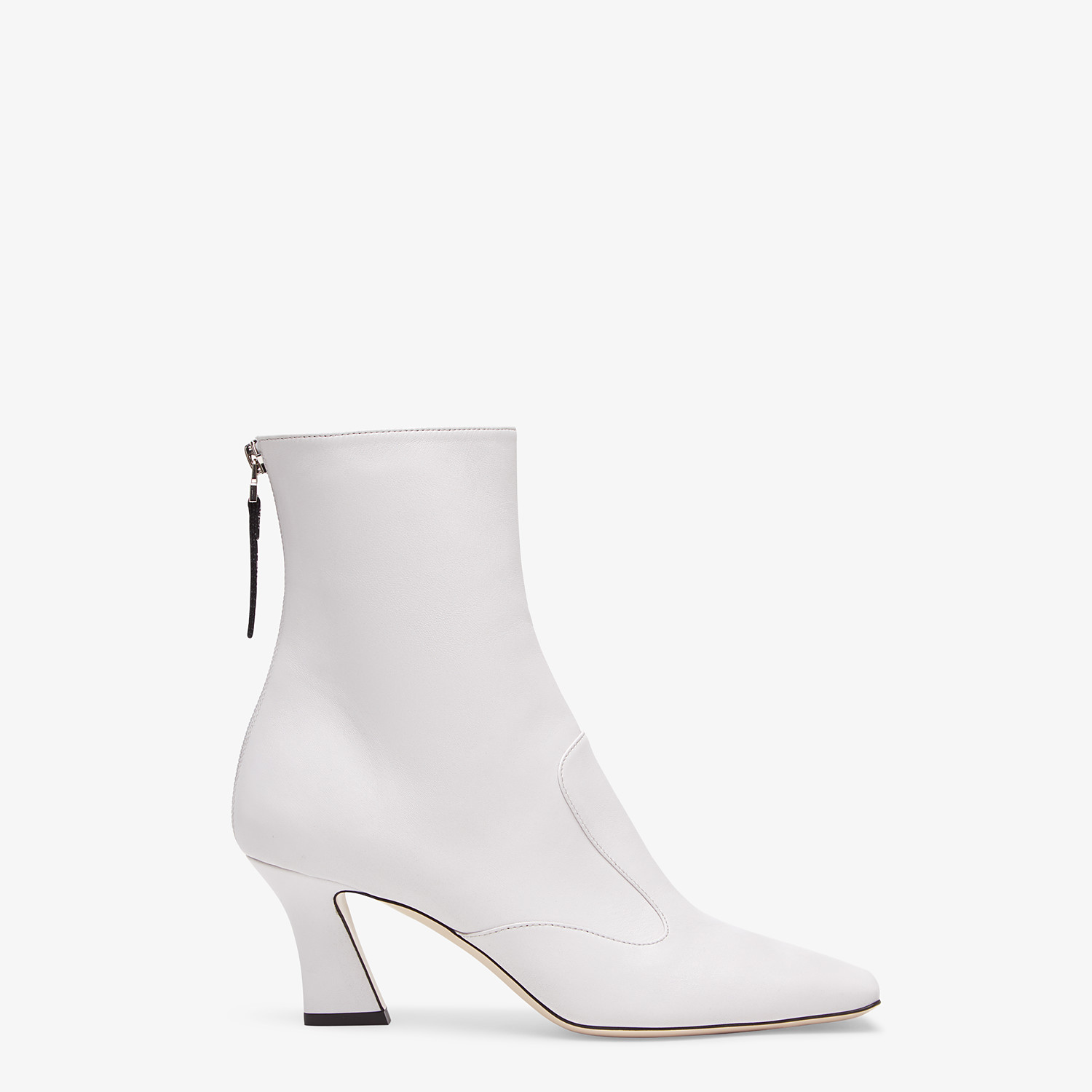 FENDI ANKLE BOOTS - White nappa leather booties - view 1 detail