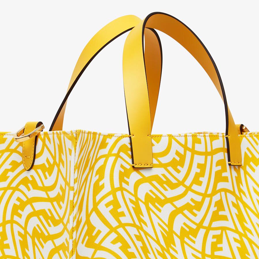FENDI SHOPPER - Yellow glazed canvas bag - view 6 detail