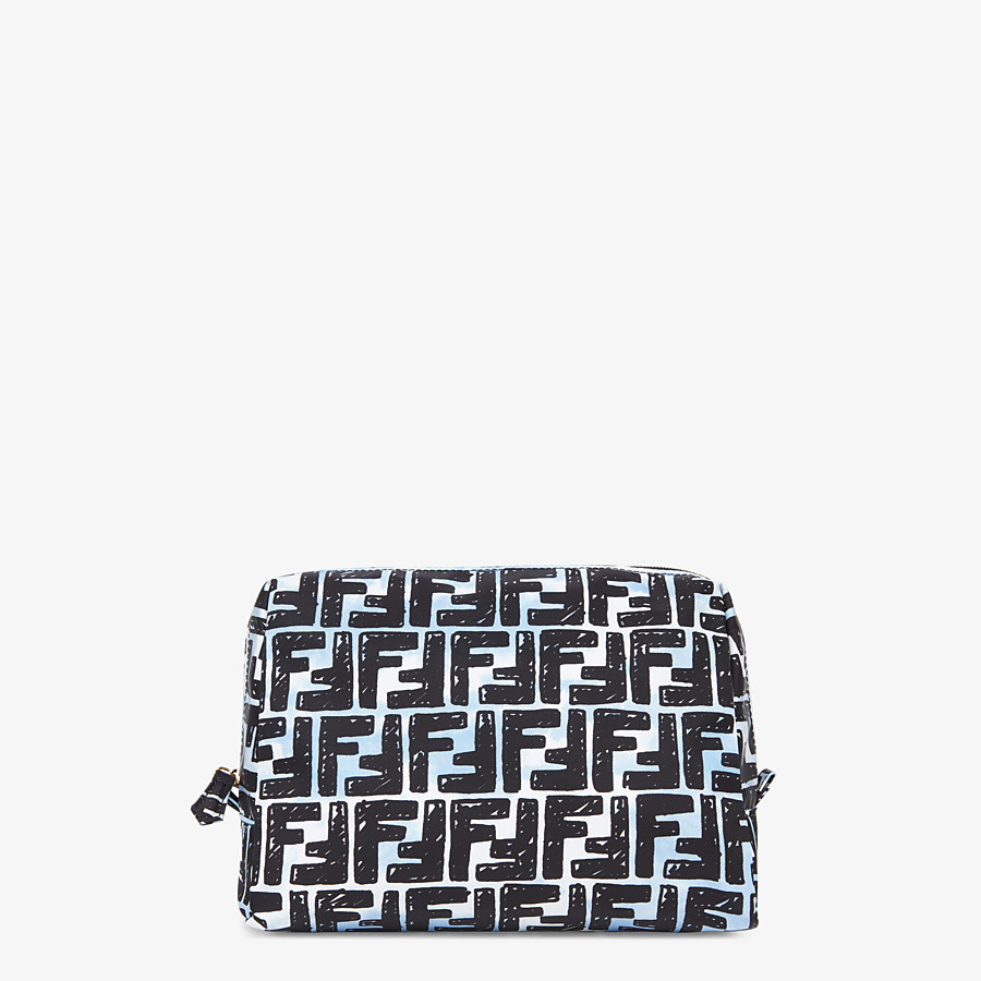 FENDI MEDIUM MAKEUP POUCH - Multicolor nylon toiletry case - view 1 detail