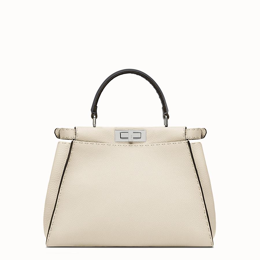 FENDI SELLERIA PEEKABOO - white Roman leather handbag - view 3 detail