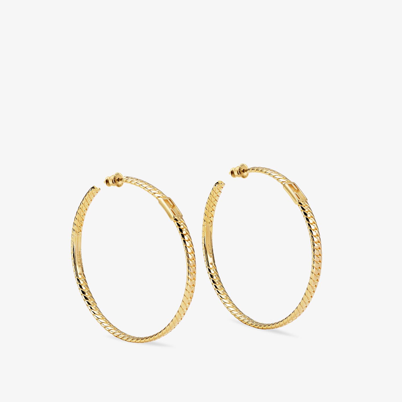 FENDI BAGUETTE LARGE EARRINGS  - Gold-color earrings - view 1 detail