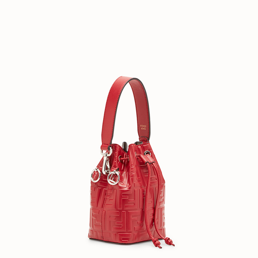Red leather mini-bag - MON TRESOR  4cd749baffae3