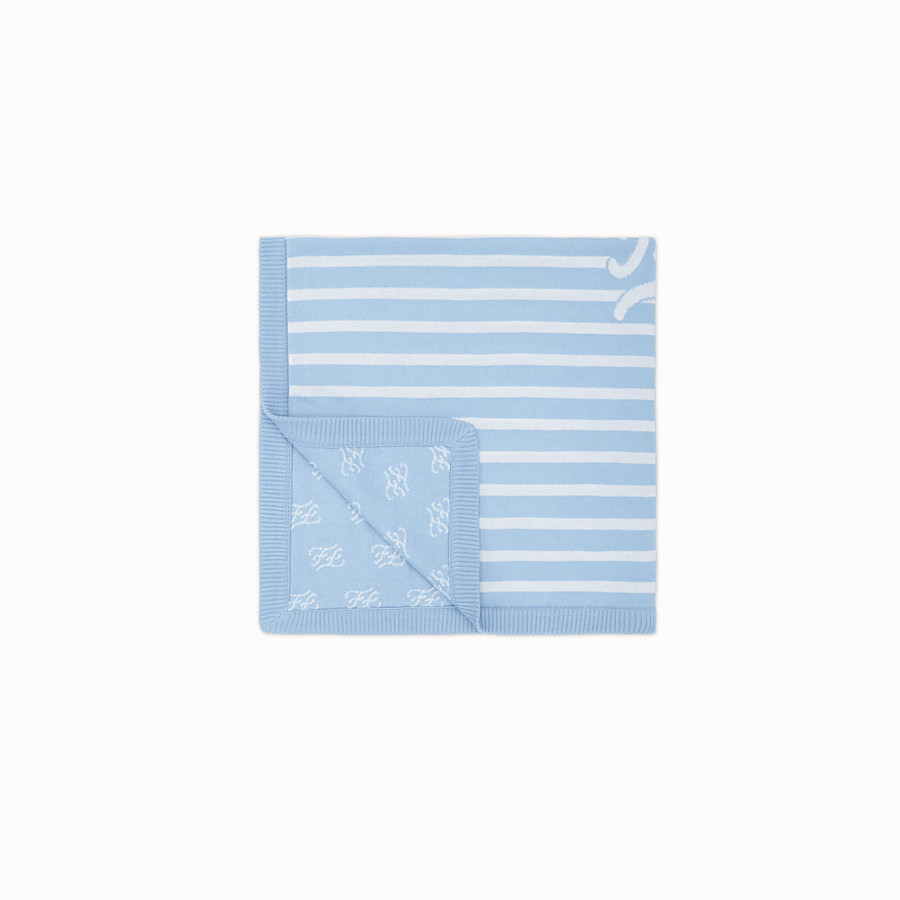FENDI KNITTED BABY BLANKET - Knitted blanket with inlay - view 2 detail