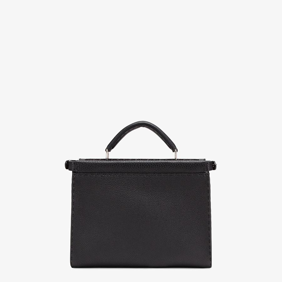 FENDI PEEKABOO ICONIC FIT MINI - Black leather bag - view 3 detail