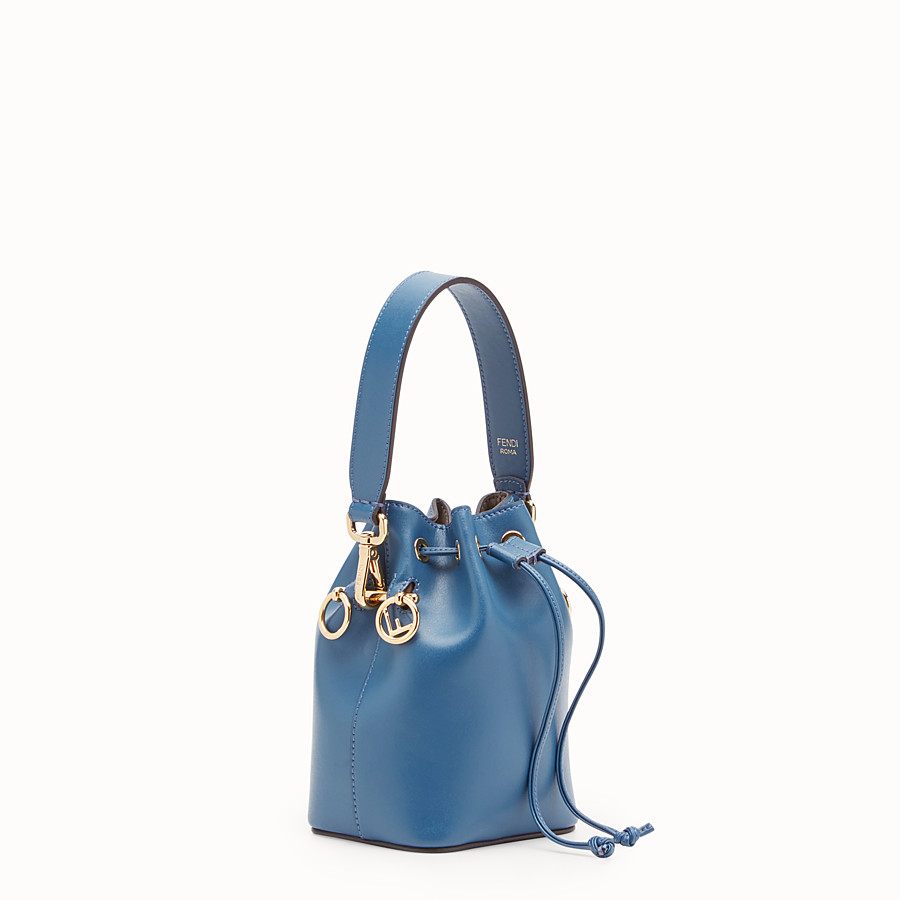 FENDI MON TRESOR - Mini-Tasche aus Leder in Blau - view 2 detail