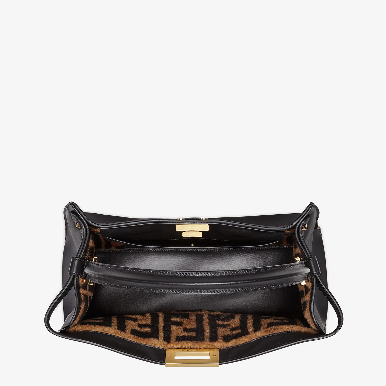 FENDI PEEKABOO X-LITE LARGE - Black leather bag - view 5 detail