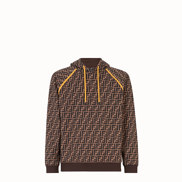 FENDI SWEATSHIRT - Brown cotton sweatshirt - view 1 small thumbnail
