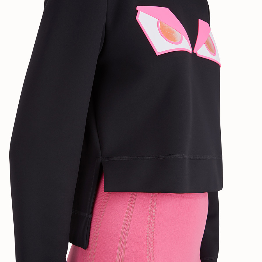 FENDI SWEATSHIRT - Black fabric sweatshirt - view 4 detail