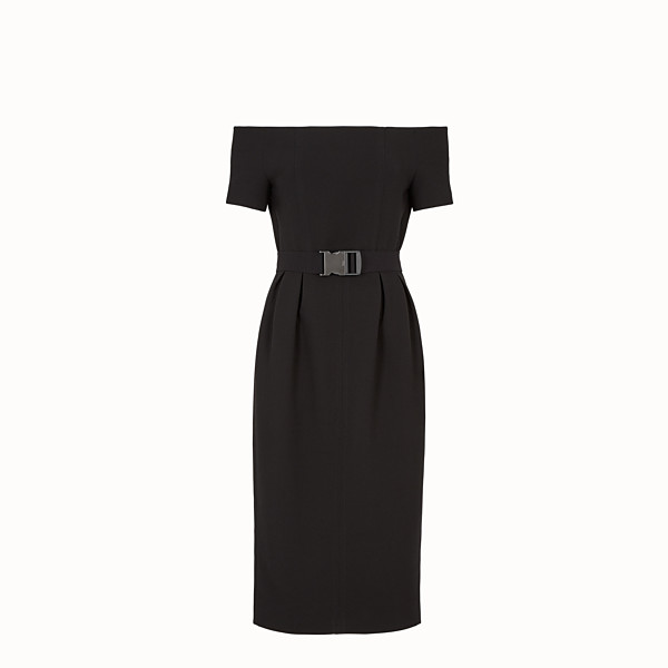FENDI DRESS - Black wool dress - view 1 small thumbnail